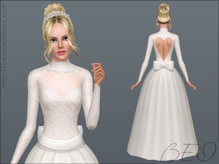 Download Vestiti Da Sposa The Sims 3.Beo Creations Valentine S Wedding Dress By Beo Sims 4 Dresses