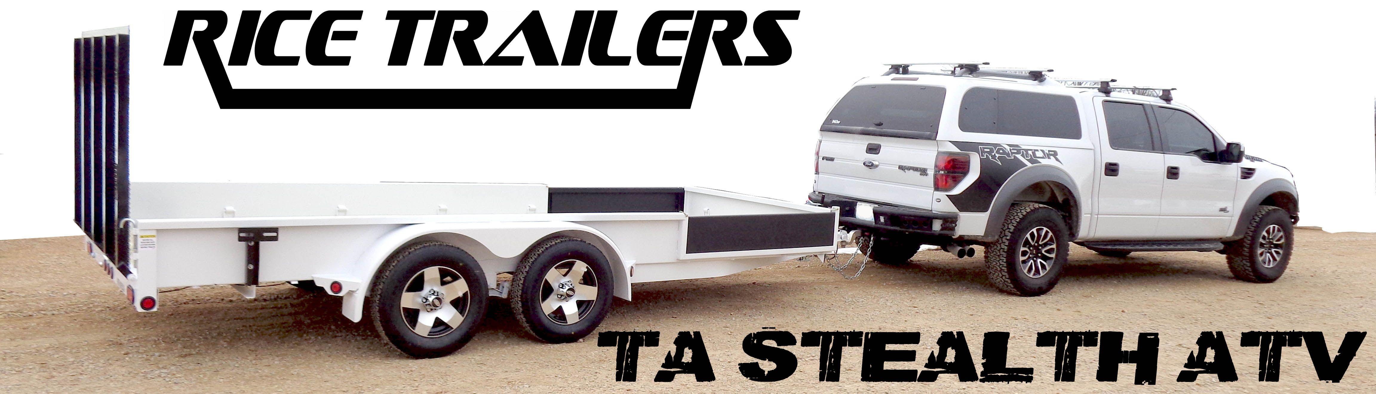 POWDER COATED 76 X 12 STEALTH Utility TRAILERS!! #ATV # ...