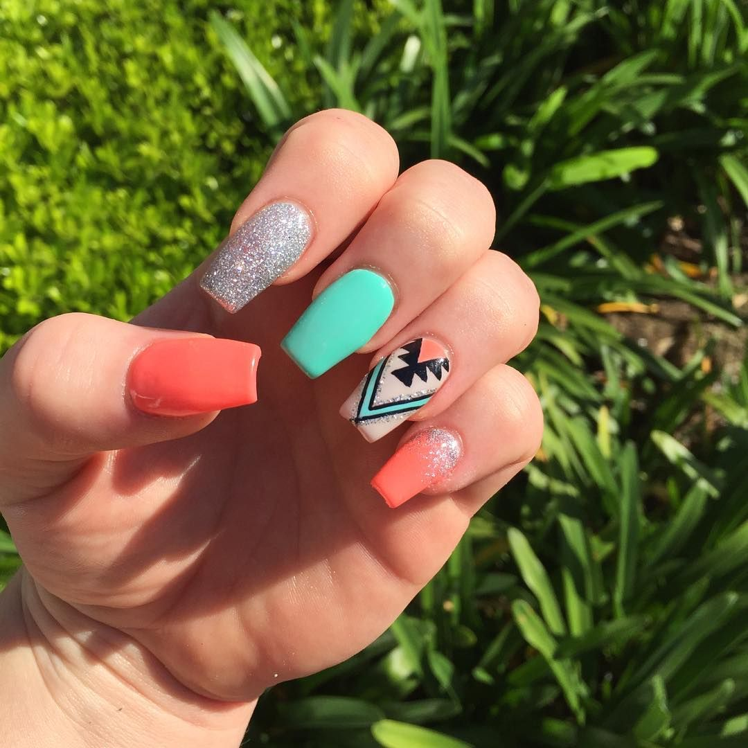 Awesome Acrylic Nail Designs Trends | Summer acrylic nails ...