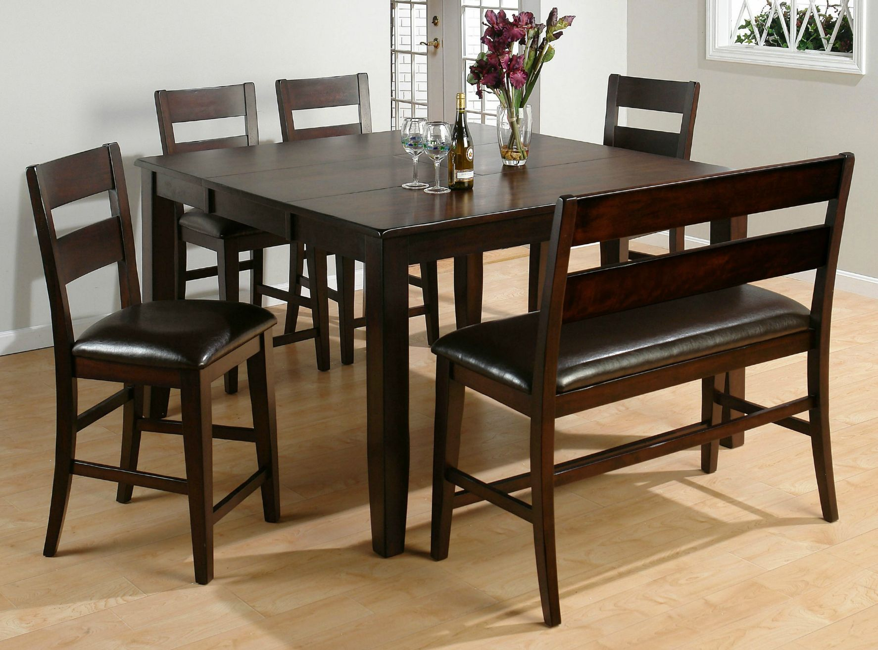 26 Dining Room Sets Big And Small With Bench Seating 2021 Tall Kitchen Table Dining Table With Bench Square Kitchen Tables