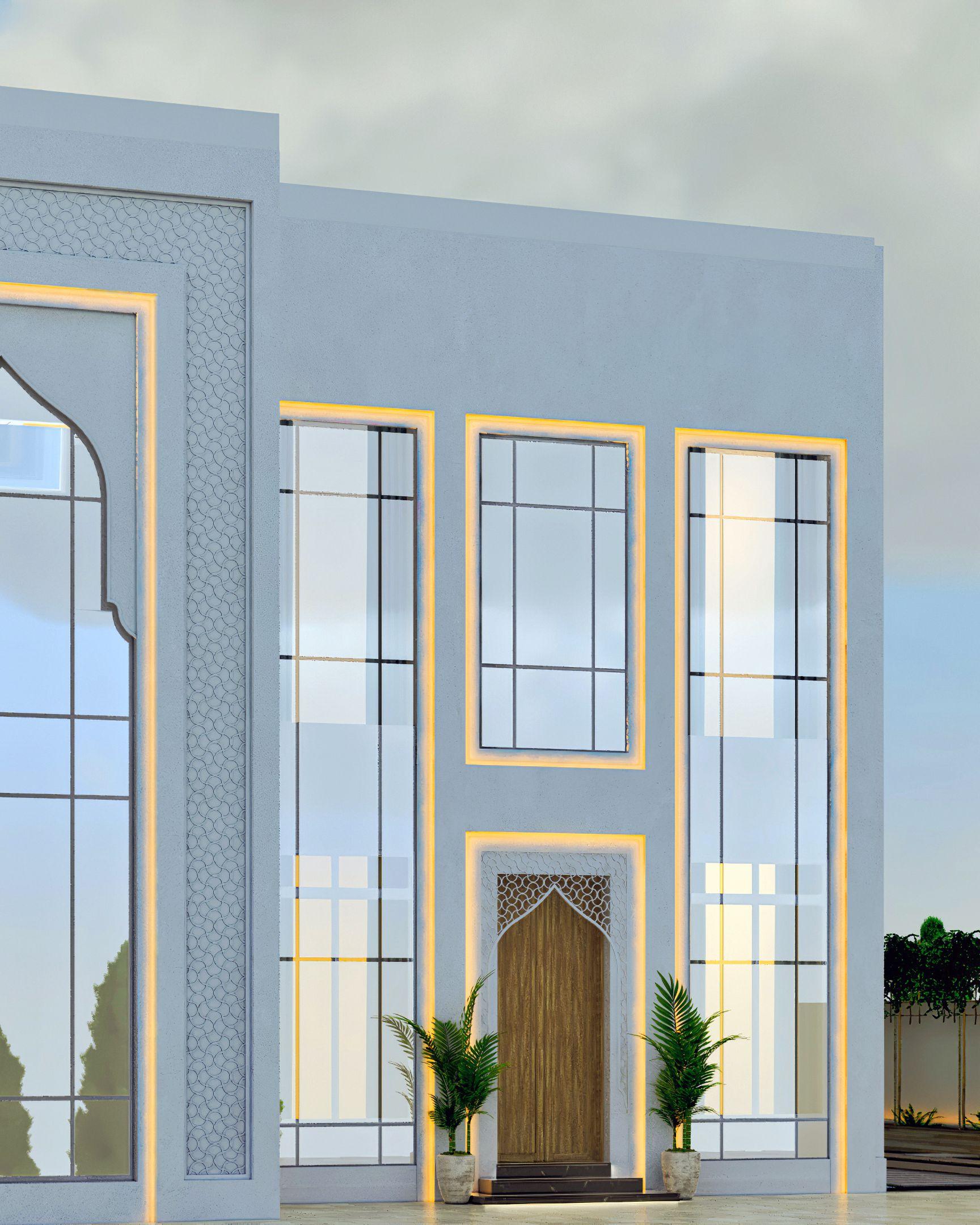 للمزيد من التصاميم والأستشارات Mazen Interior House Front Design House Front Design