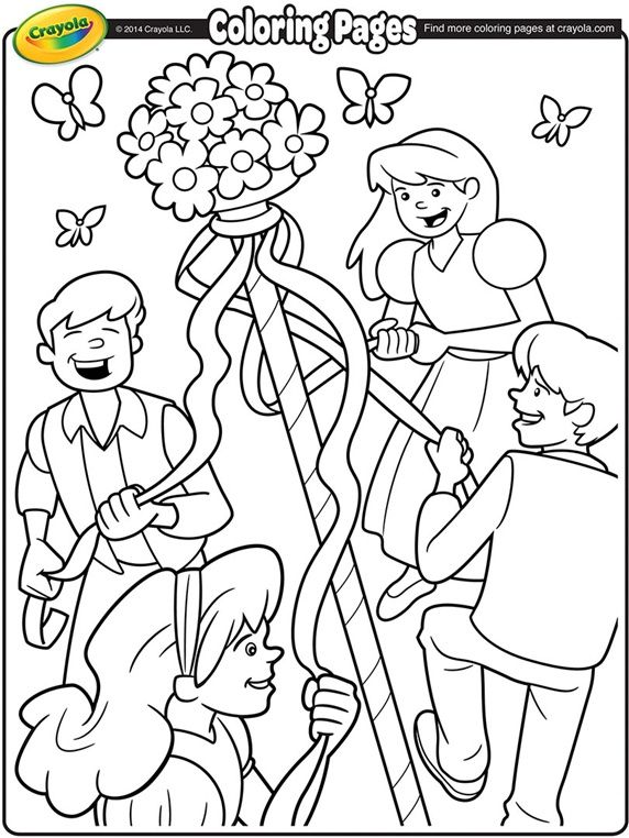 May Day Maypole On Crayola DaysFree Coloring Pages