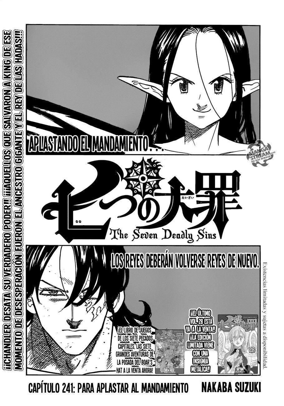 Nanatsu No Taizai Manga Lector Tumangaonline Seven Deadly Sins Seven Deadly Sins Anime Anime