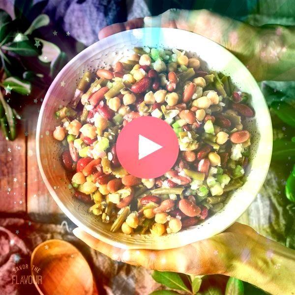 Three Bean Salad  Family reunion Overnight Three Bean Salad  Family reunion  Dass Fenchel und Linsen perfekt harmonieren beweist dieses leckere Gericht Fenchelsalat mit r...