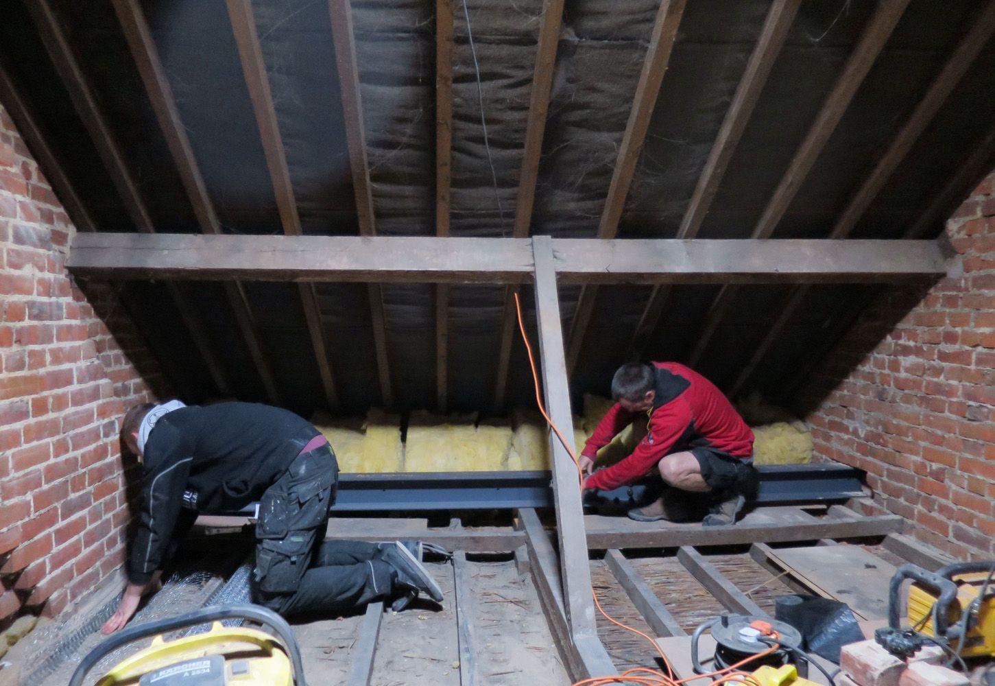 Installing A Spliced Rsj Between Gable Walls In A Terrace