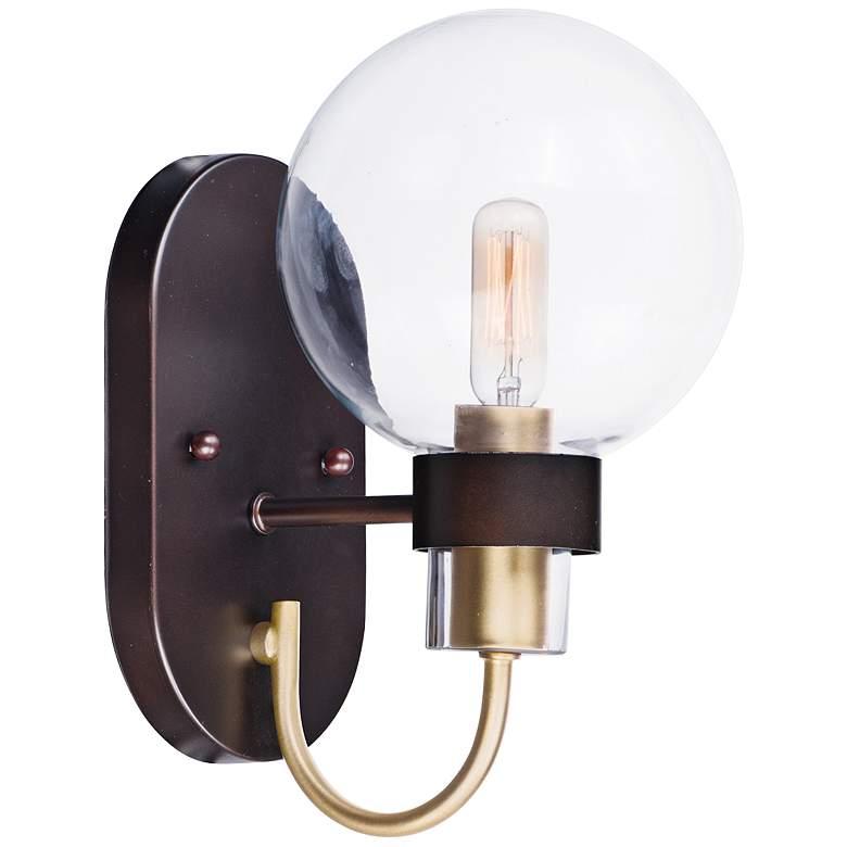 Maxim Bauhaus 10 1 2 High Bronze Wall Sconce 60v17 Lamps