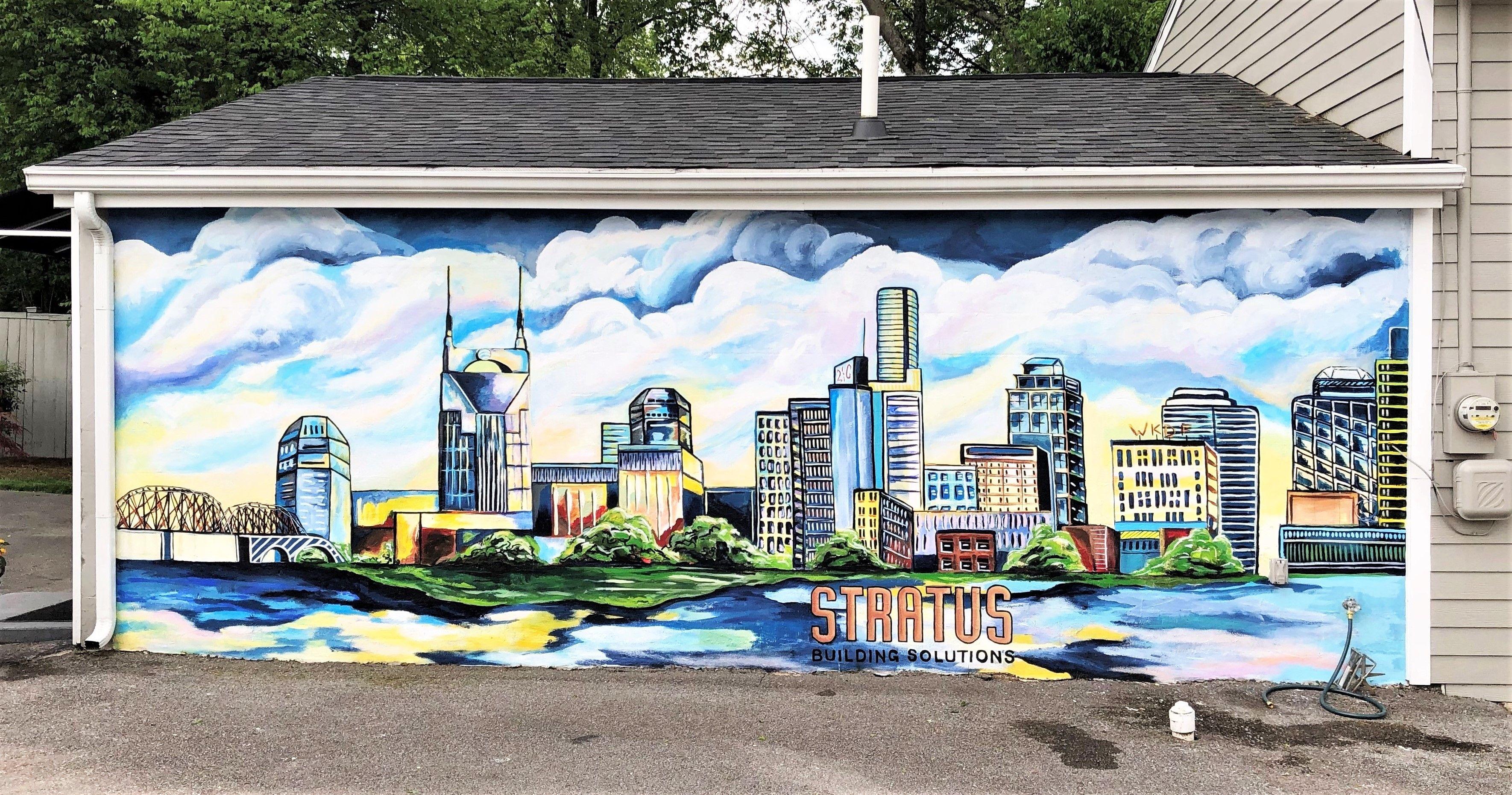 Stratus skyline Public art, Nashville art, Street art