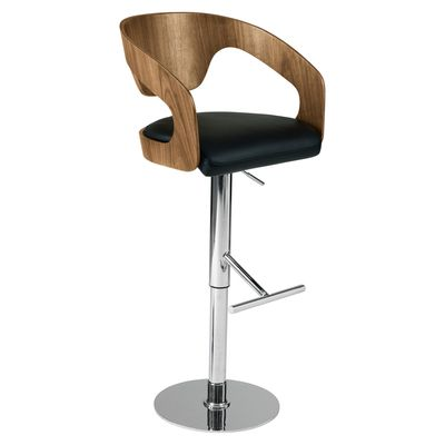 Super Curved Padded Bar Stool Black 249 From Dwell Would Need 2X Caraccident5 Cool Chair Designs And Ideas Caraccident5Info