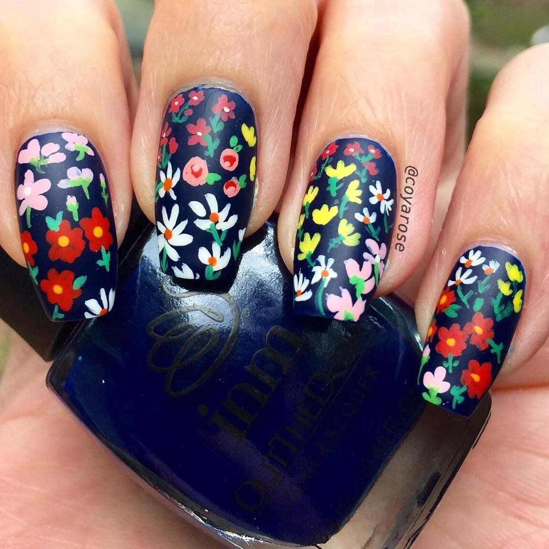 Spring floral pattern flowers nails nail art  GORGEOUS NAILS in