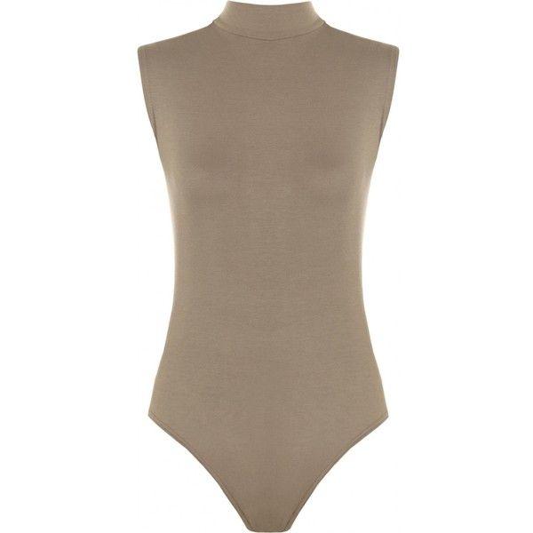 7926aa9609 Turtle Neck Sleeveless Bodysuit ( 16) ❤ liked on Polyvore featuring  intimates