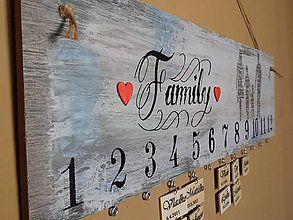 Dekorácie - rodinný kalendár V - 7149644_
