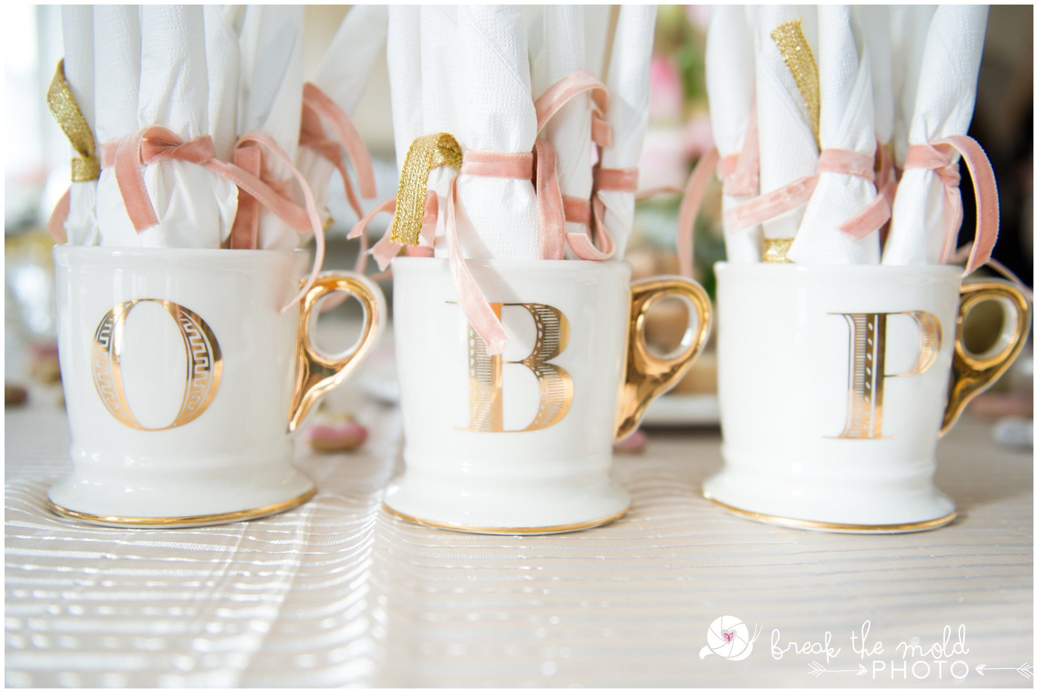 a mad men baby shower letter mugs from anthropologie to hold silverware for baby shower
