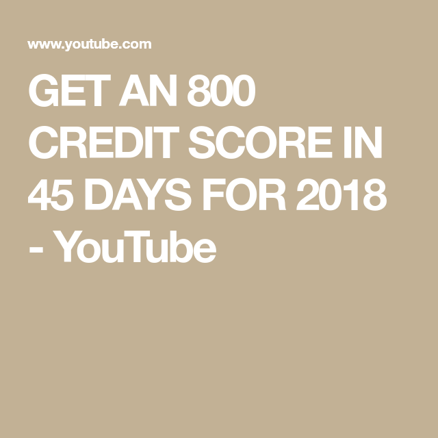 How to get 800 credit score in 45 days
