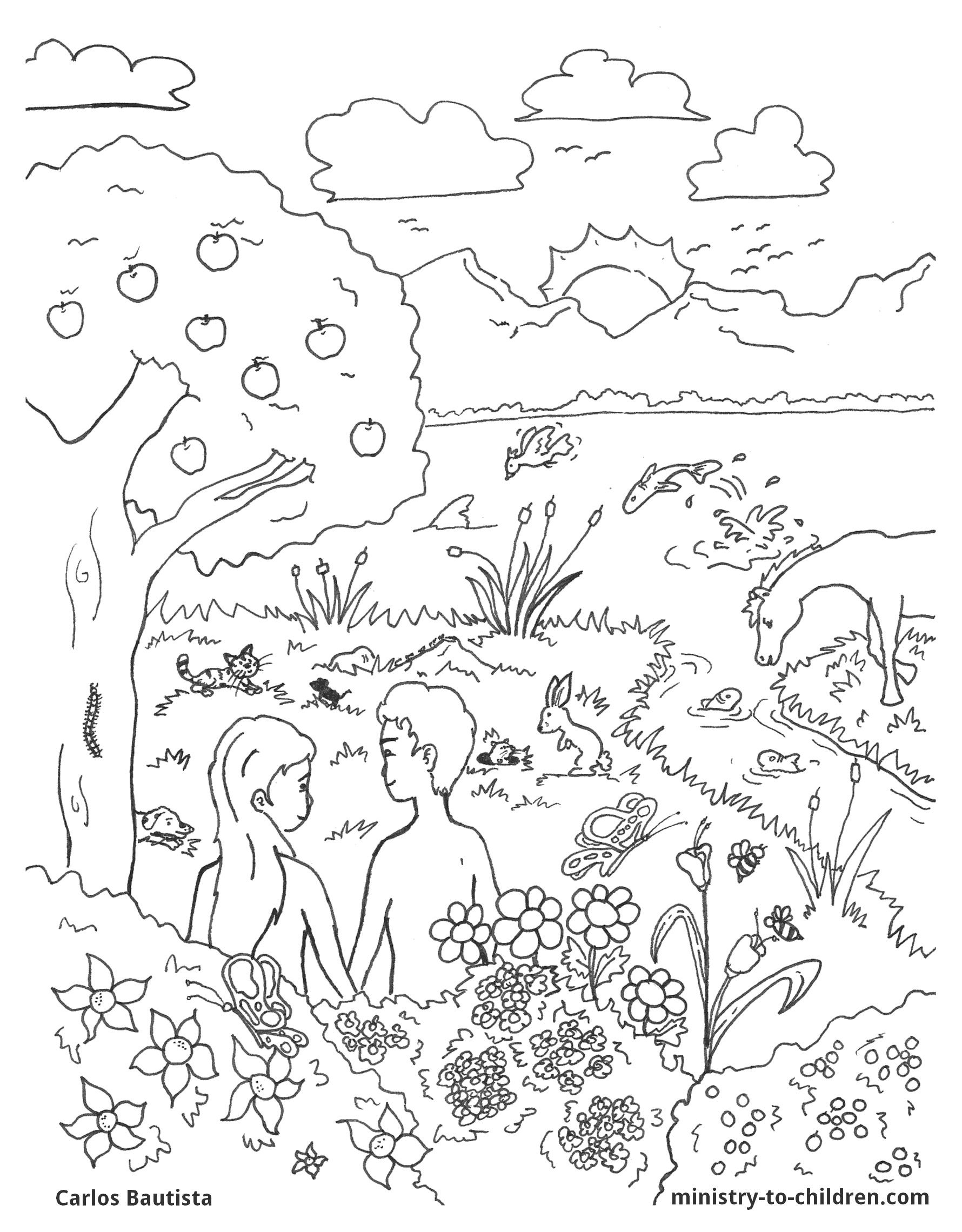 Creation Coloring Page Creation Coloring Pages Bible Coloring Pages Bible Coloring
