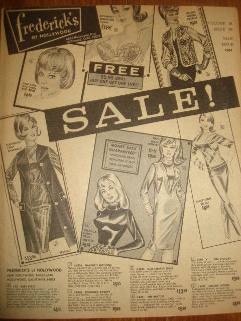 Vintage 1964 frederick's of Hollywood GLAMOUR Clothing Catalog - 31 pages, SALE - Issue 76 vol 18 ~ 1960s Fashion Catalog by PastPossessionsOnly on Etsy