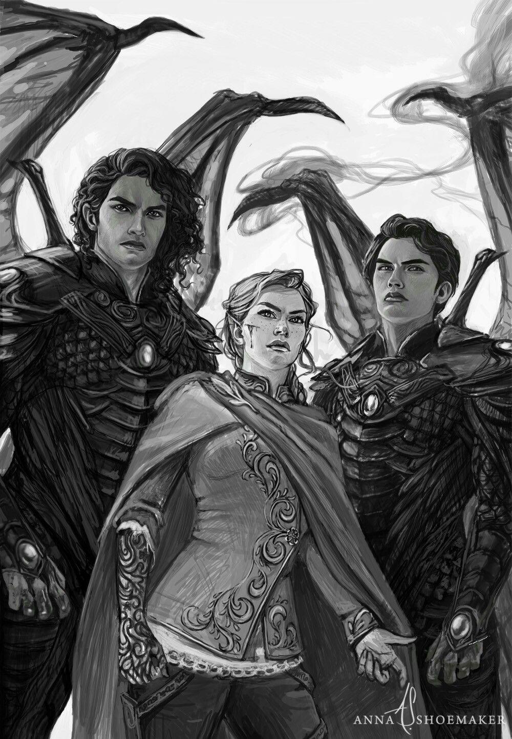 Cassian Feyre Azriel Fan Art A Court Of Mist And Fury A Court