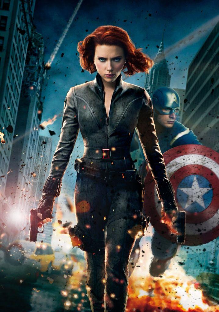 La Viuda Negra y Capitan America- Scarlett Johansson y Chris Evans