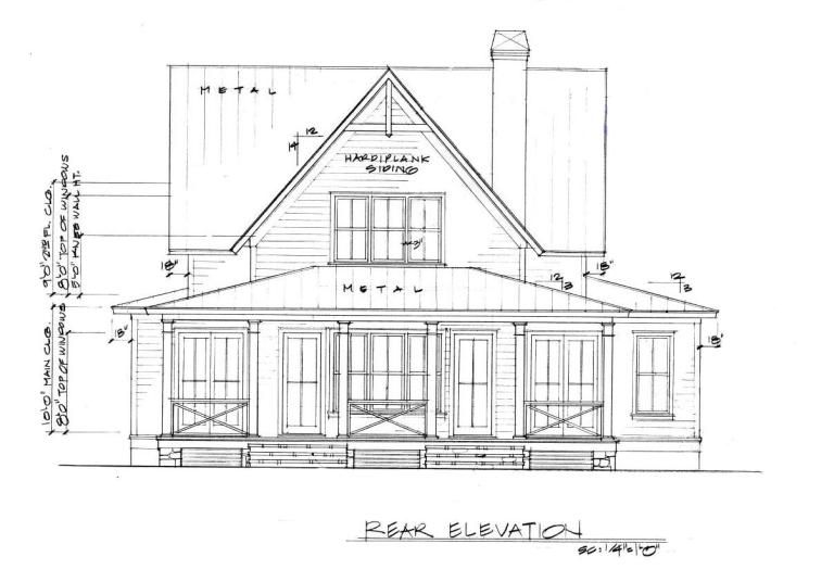 Four Gables Rear Elevation In 2020 Gable House Cottage Floor Plans House Plans