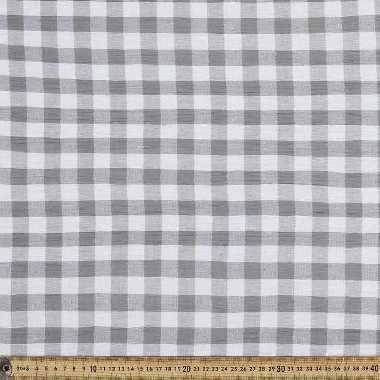 Gingham Crinkle Cotton Fabric Fabric Apparel Fabric Cotton Fabric