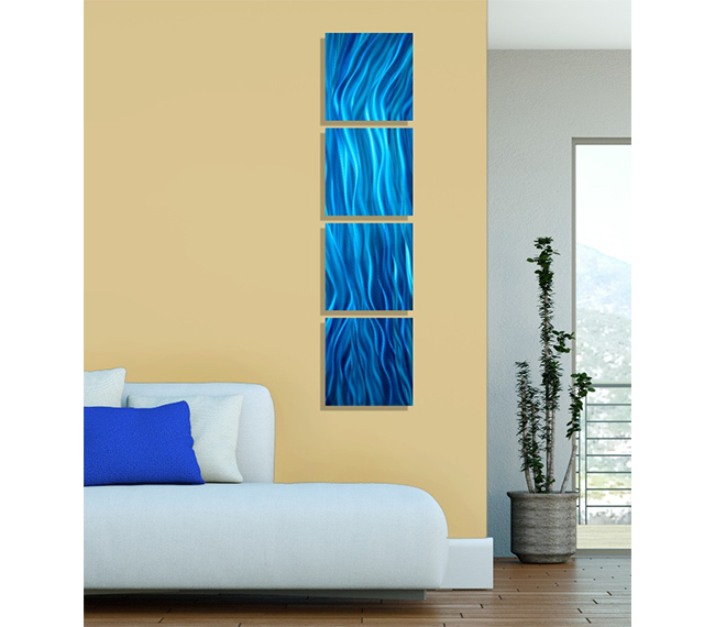 Attractive Metal Wall Art Blue Crest - All About Wallart ...
