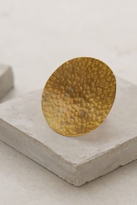 Made Hammered Brass Circle Ring #anthrofave #anthropologie #women #accessories