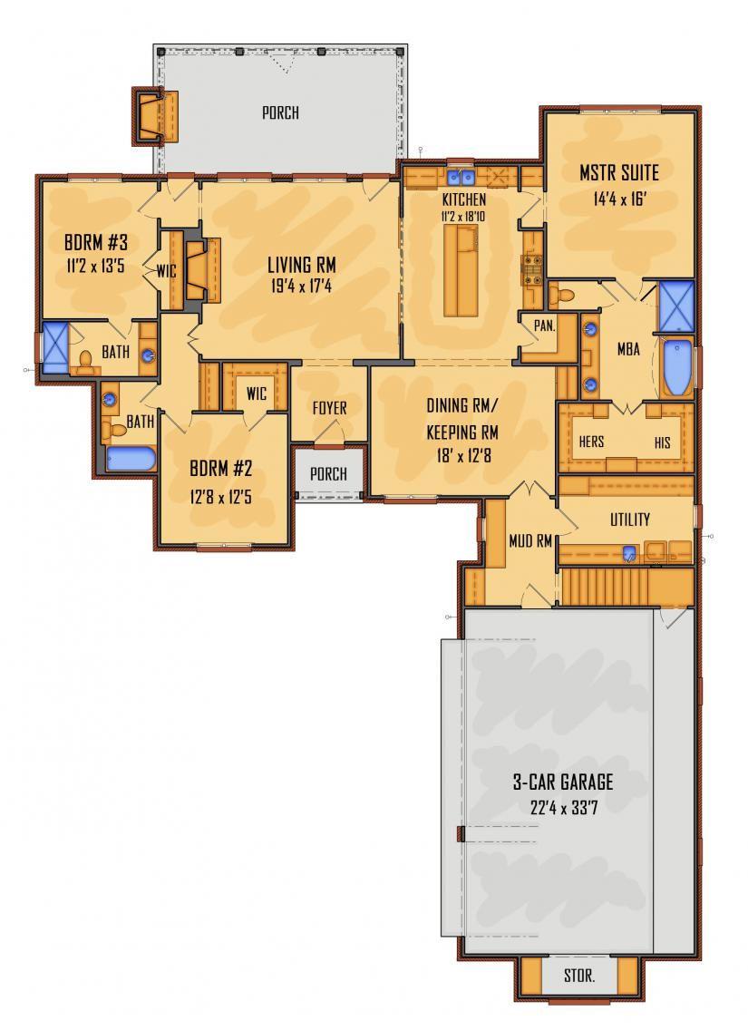 658848 Idg6112e Floor Plans House Plans New Home Designs