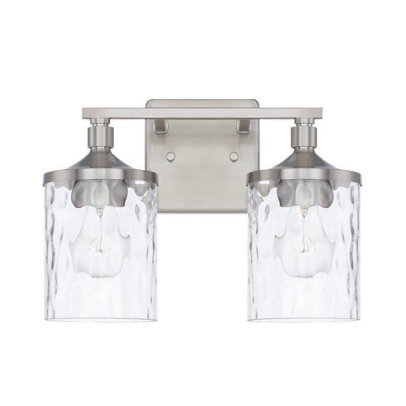 Photo of Capital Lighting 128821-451 Colton 2 Light 13″ Wide Bathroom Vanity Light Brushed Nickel Indoor Lighting Bathroom Fixtures Vanity Light