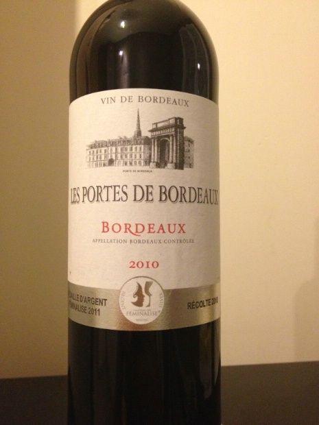 2010 Les Portes de Bordeaux Bordeaux Contrôlée, France, Bordeaux, Bordeaux Contrôlée - CellarTracker Inexpensive & pleasant
