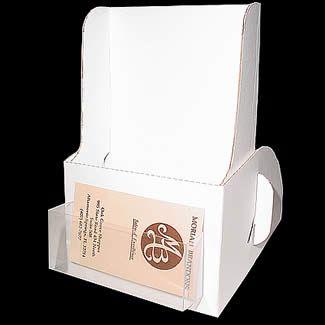 Cardboard Brochure Holder With Business Card Pocket Cheap Brochure Holders Brochure Display Brochure