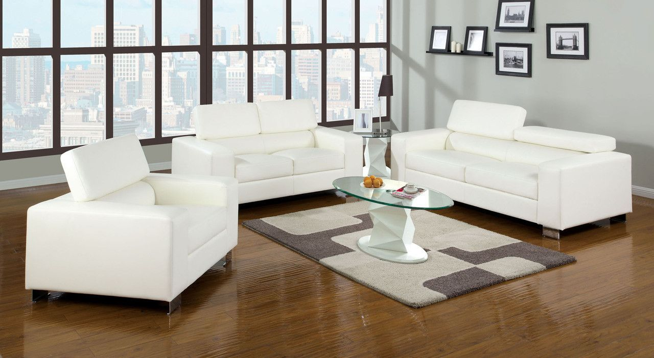 Furniture of america sofa u love seat set cmwh makri collection