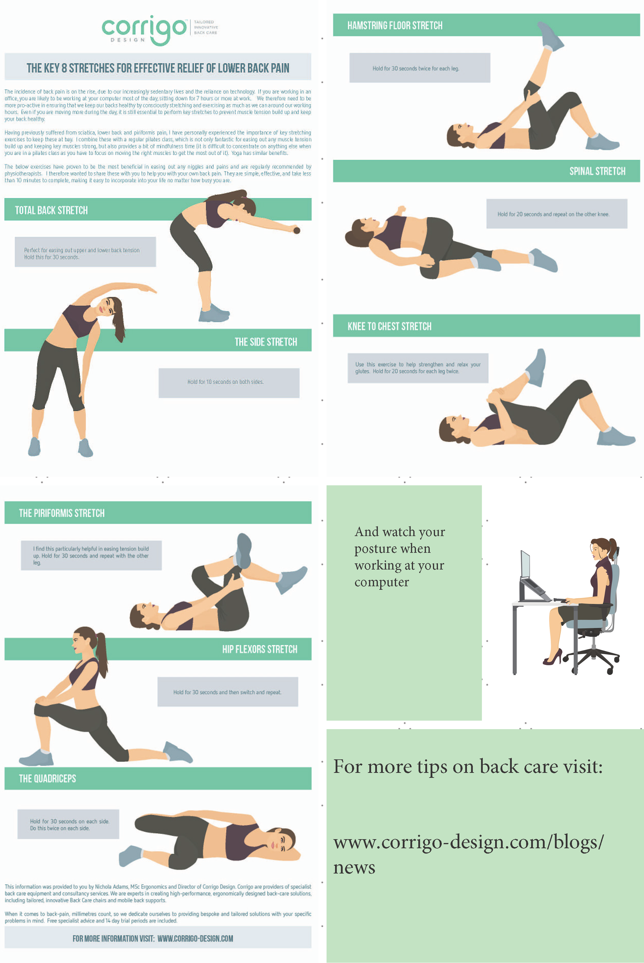 Office Chair Exercises The Key 8 Stretches For Effective Relief Of Lower Back