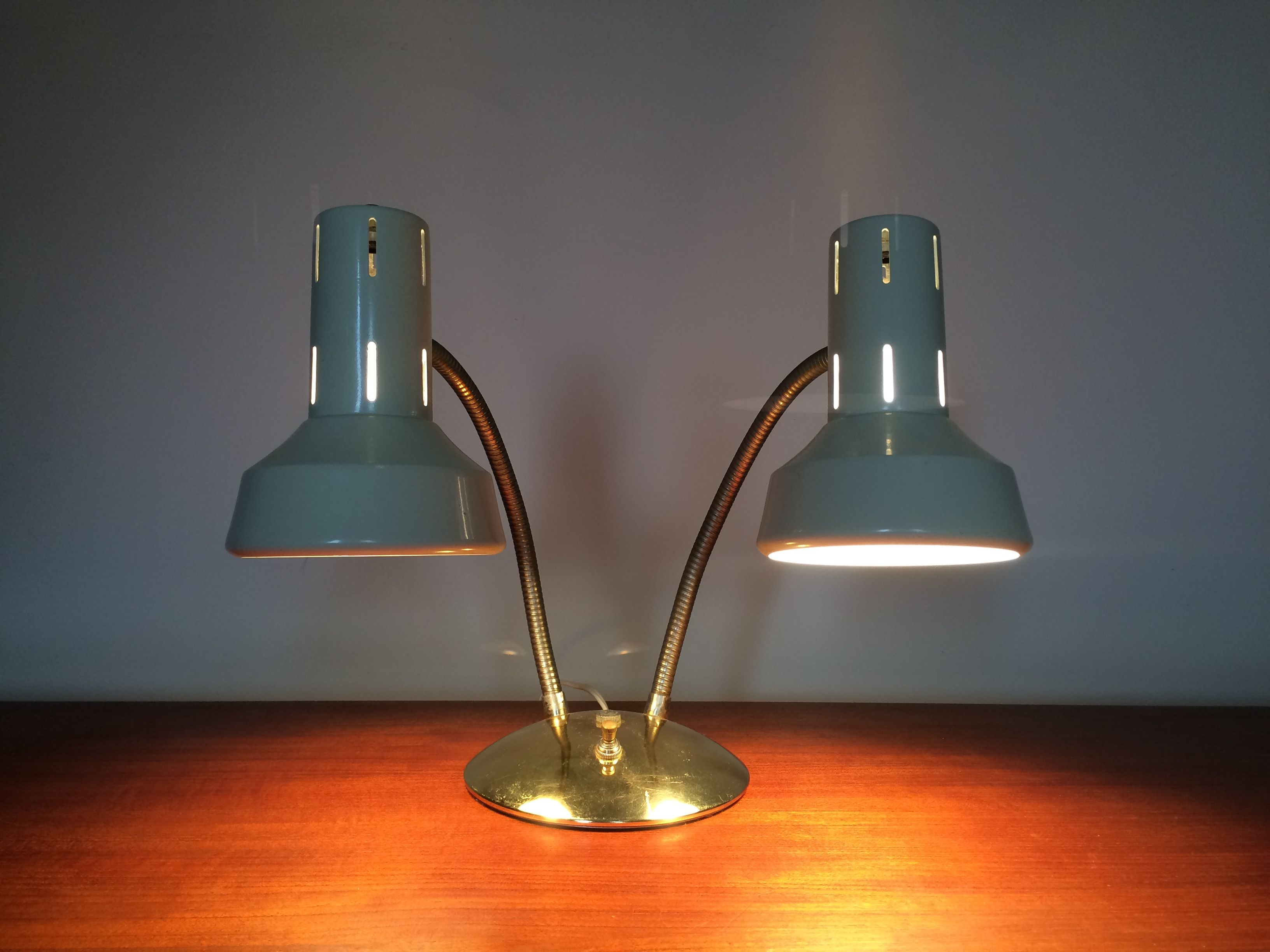 Funky Desk Lamps Funky Mcm Dual Light W Bendable Arm Desk Lamp Goldtone Base Arms W