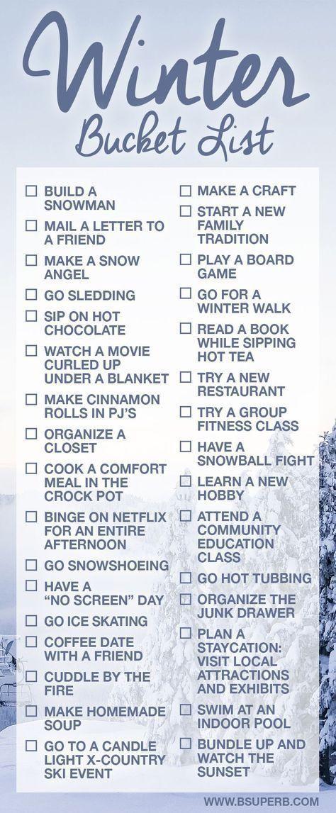 Winter Bucket List #Bucket #List #winter #seasonsoftheyear