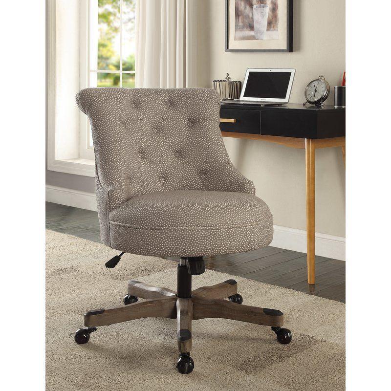 Eckard task chair linon home decor tufted desk chair