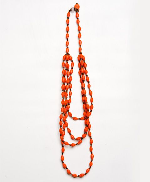Zoe Necklace (Coral), made in Uganda {with love} out of paper beads.  Noonday Collection uses fashion and design to offer sustainable income to the world's most vulnerable through dignified job creation.