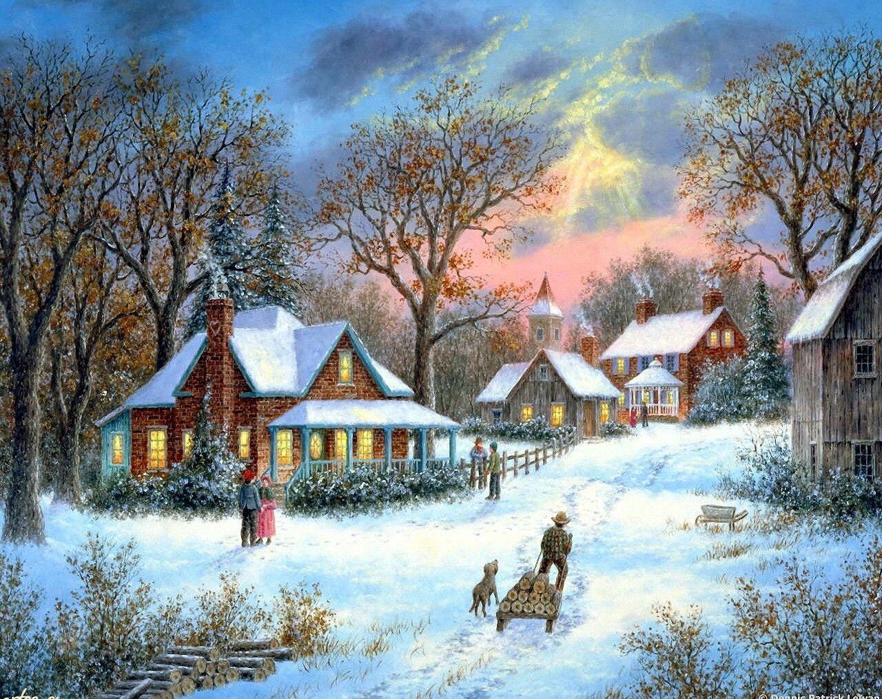 можно рождество в моей деревне картинки увидевшая окно, сильно
