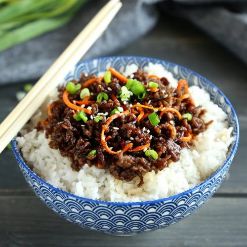 easy korean beef rice bowls  recipe  minced beef recipes