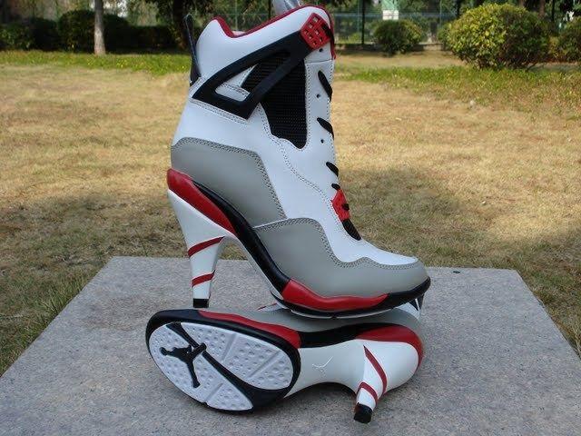 Air Jordan High Heels Tênis com salto alto   Salto alto