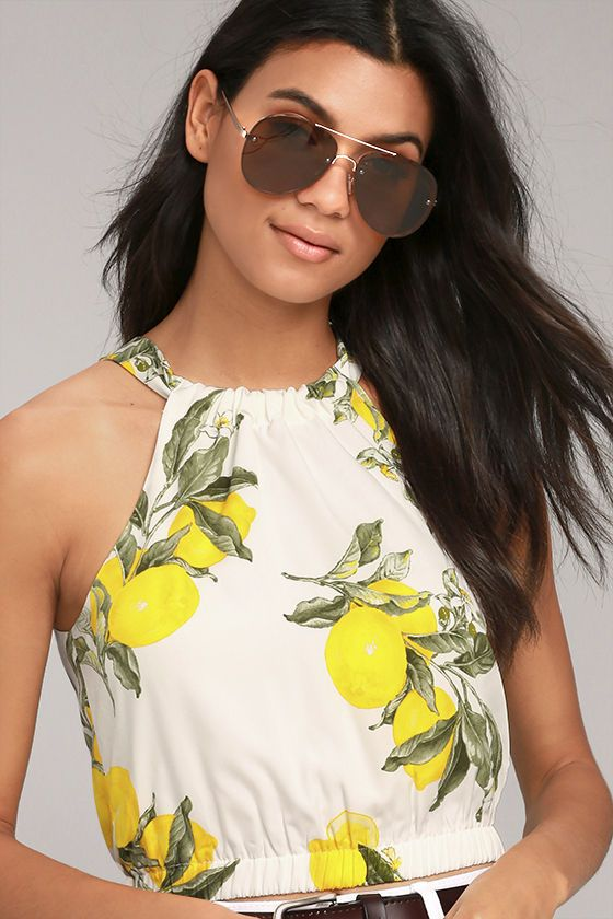 Image result for photos of tops with  lemon print