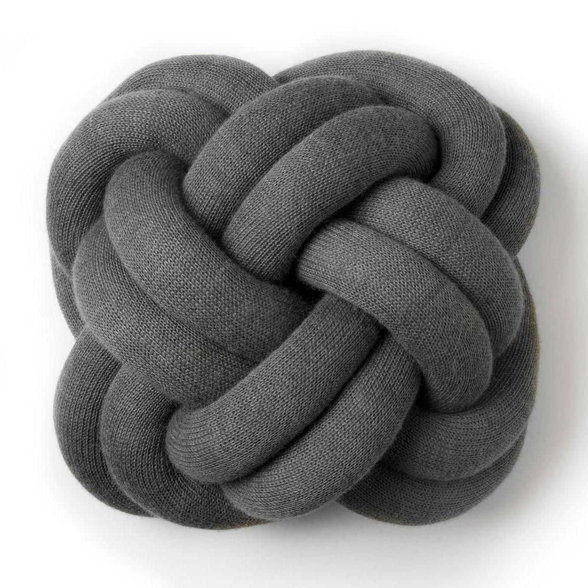 DesignHouseStockholm - Knot Kissen - grau/30x30x15cm