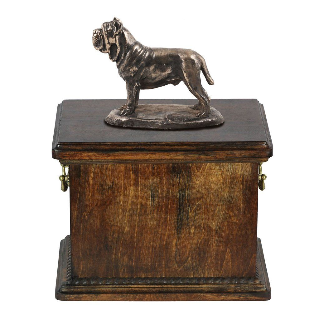 Solid Wood Casket Mastino Neapolitano Memorial Urn for Dog