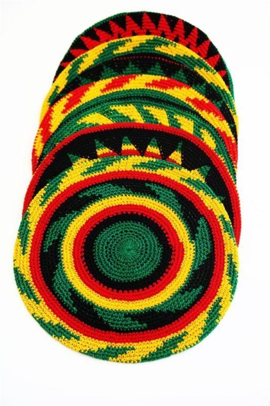 Rasta hat beanie ~ reggae ~ bob marley ~ handmade in guatemala by ...