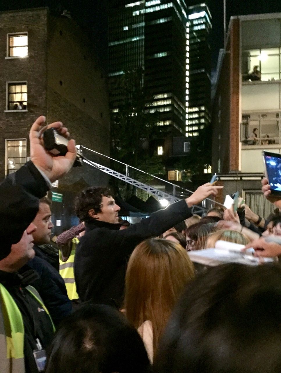 Benedict Cumberbatch and fans Setlock, North Gower Street, June 12th 2016