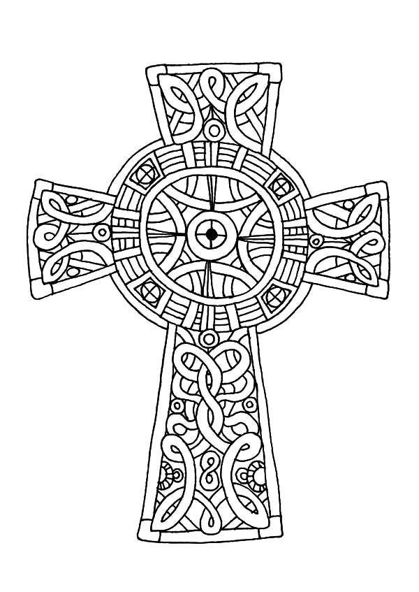 free coloring pages celtic cross - photo#7
