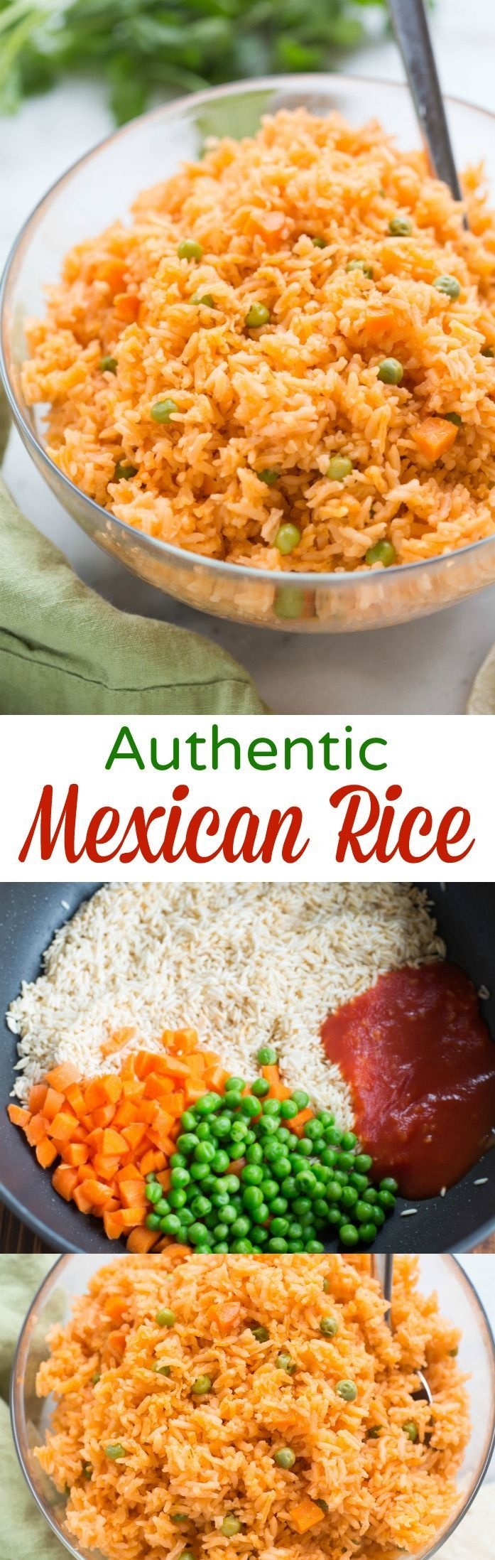 Photo of The BEST, truly authentic Mexican rice! Super easy to make from home, and a nece…