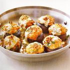 Sausage stuffed mushrooms; The bonus is this recipe rings in at 164 calories.