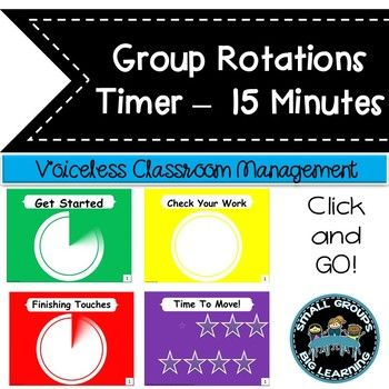 Daily Centers Countdown Timer Easy Classroom Management 15 Minute