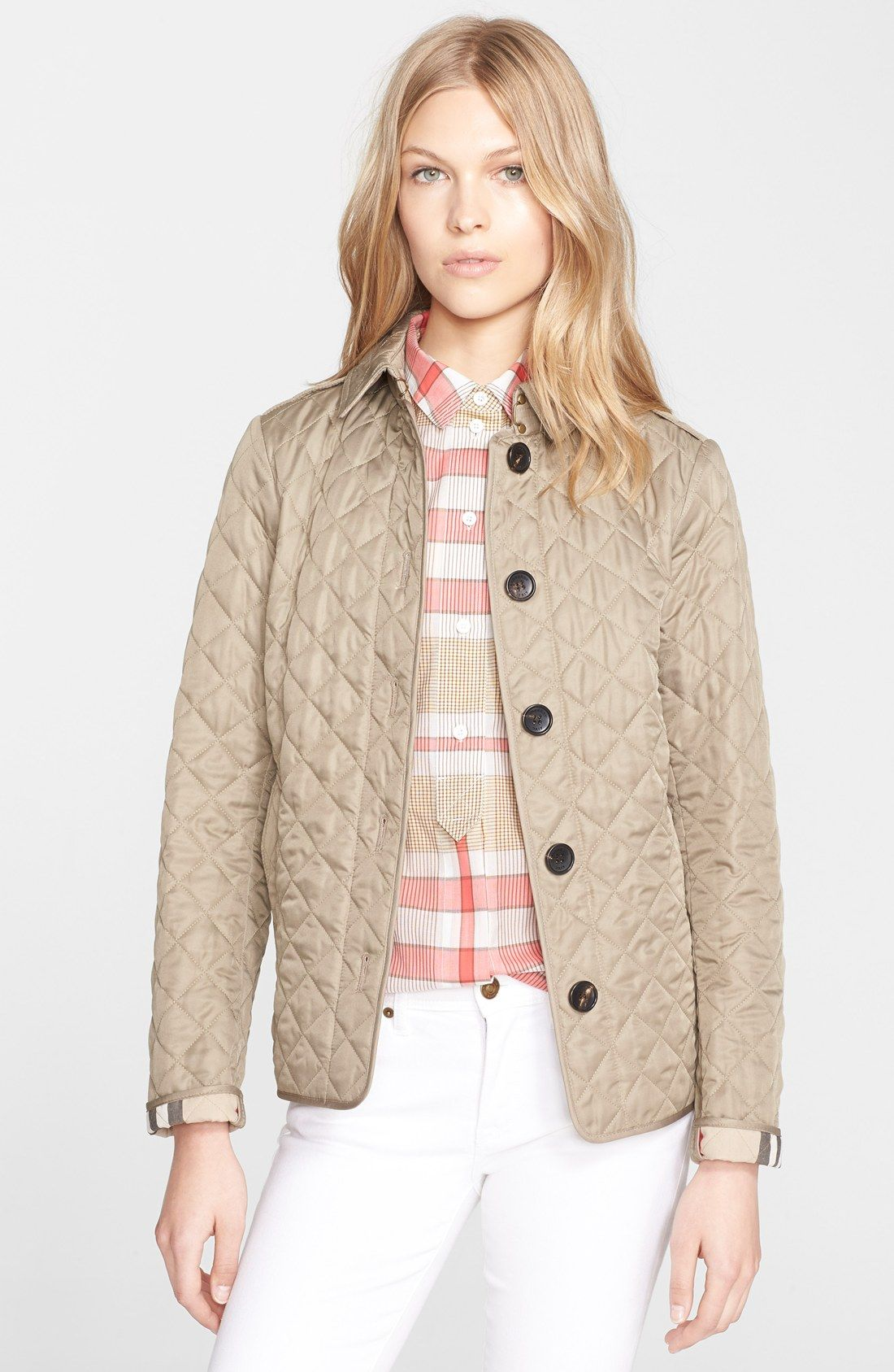 Burberry Brit Ashurst Quilted Jacket Nordstrom Quilted Jacket Outfit Quilted Puffer Jacket Jackets For Women