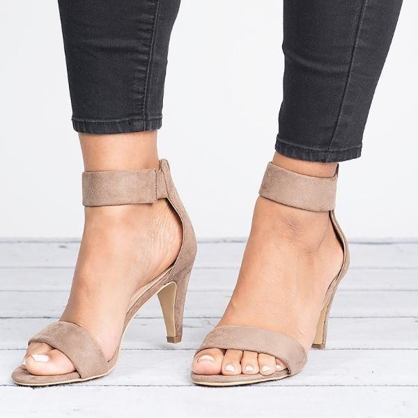039eafd046f84 Ankle Strap Med Heel Sandal Open Toe Pump Heels in 2019