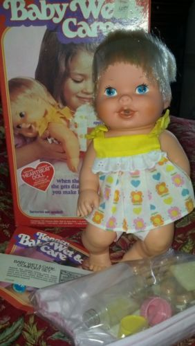 Kenner Wet And Care Baby Doll She Would Get A Rash On Her Bottom And You Had To Use Special Wipes To Make It Go Away Baby Dolls Childhood Toys Dolls
